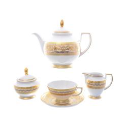 Чайный сервиз на 6 персон Falkenporzellan Diadem White Creme Gold 15 предметов GL41133