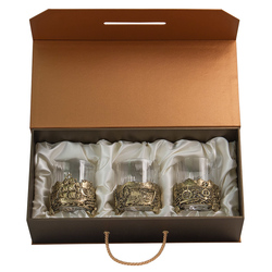 "Набор из 3-ех бокалов для виски ""Парусник"", Н=100 мм, V=280 мл (в футляре-кейсе) БВ-03(Парусник)"
