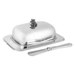 Regent Маслёнка Винтаж, крышка, нож, нерж.сталь 58031