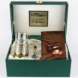 """Набор для чая подарочный с книгой """"Глава семьи"""" в футляре reg23022"""