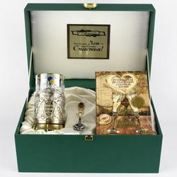 """Набор для чая подарочный с книгой """"Глава семьи"""" в футляре reg23023"""