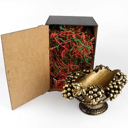 Подставка под бутылку Виноград (цвет Бронза) в коробке ПБ-09К