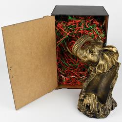 Подставка под бутылку Слон (цвет Бронза) в коробке ПБ-08К