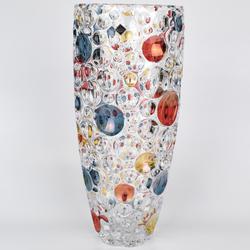 Bohemia Jihlava Ваза Lisboa цветные шары 35 см. (гладкий хрусталь Йиглава)