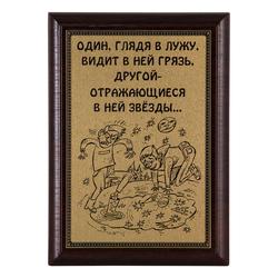 """Плакетка """"Пессимизм и оптимизм..."""" 12х17 см ПА-293"""
