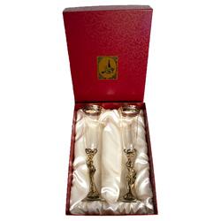 """Набор из 2-х бокалов для шампанского """"Фортуна и Дионисий"""" H=260 мм., V=190 мл., отделка """"Сеточка"""" (в картонной коробке) НБШБФД-02С ФД/К"""