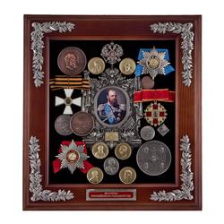 """Ключница """"Александр III"""" средн. 44х40х10 см. КЛИ-22ср"""