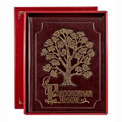 """Родословная книга """"Золоченное древо"""" кож.зам с золочением (в подарочной коробке) РК-74"""