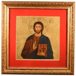 """Икона """"Иисус Христос"""" на сусальном золоте reg20163"""
