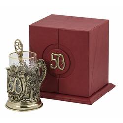 """Набор для чая """"С юбилеем! 50 лет"""" 3 предмета ПДКО-323"""