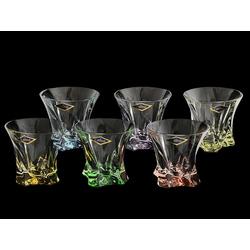 Набор стаканов 6 шт для виски разноцветные Светла