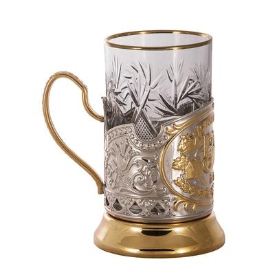 """Набор для чая подарочный """"50 лет"""" (3 предмета) в деревянном футляре ПД-142Ш"""