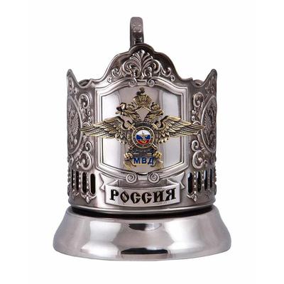 """Набор для чая подарочный """"МВД"""" (3 предмета) в футляре ПД-616/1У"""