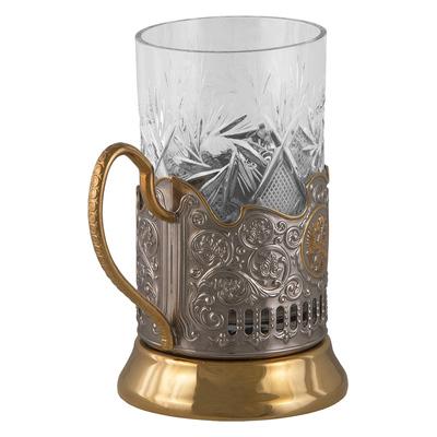 """Набор для чая подарочный """"С юбилеем! 80 лет"""" (3 предмета) в футляре ПД-190"""