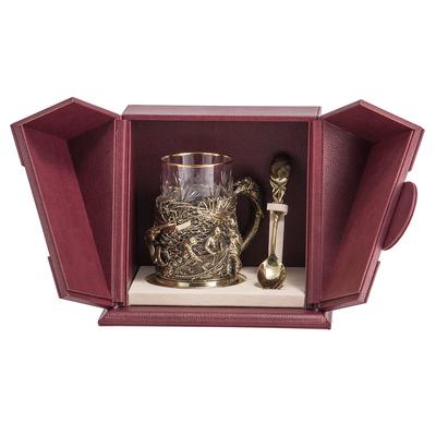 """Набор для чая подарочный """"Рыбаки"""" (3 предмета) в футляре ПДКО-334"""