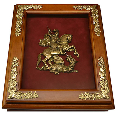 Деревянная ключница настенная с гербом Москвы 15-252