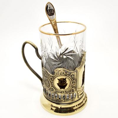 """Набор для чая подарочный """"Лучший начальник!"""" в футляре reg22001"""