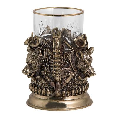 """Набор для чая подарочный """"Охота.Трофеи"""" (3 предмета) в футляре. ПДКО-337ДФ"""