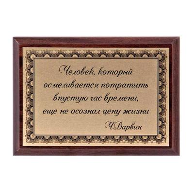"""Плакетка """"Человек и время"""" ПА-203"""