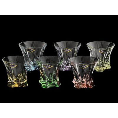 Aurum Crystal Набор стаканов 6 шт для виски разноцветные Светла